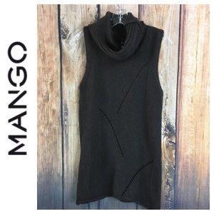💸MNG by Mango sleeveless turtleneck sweater L